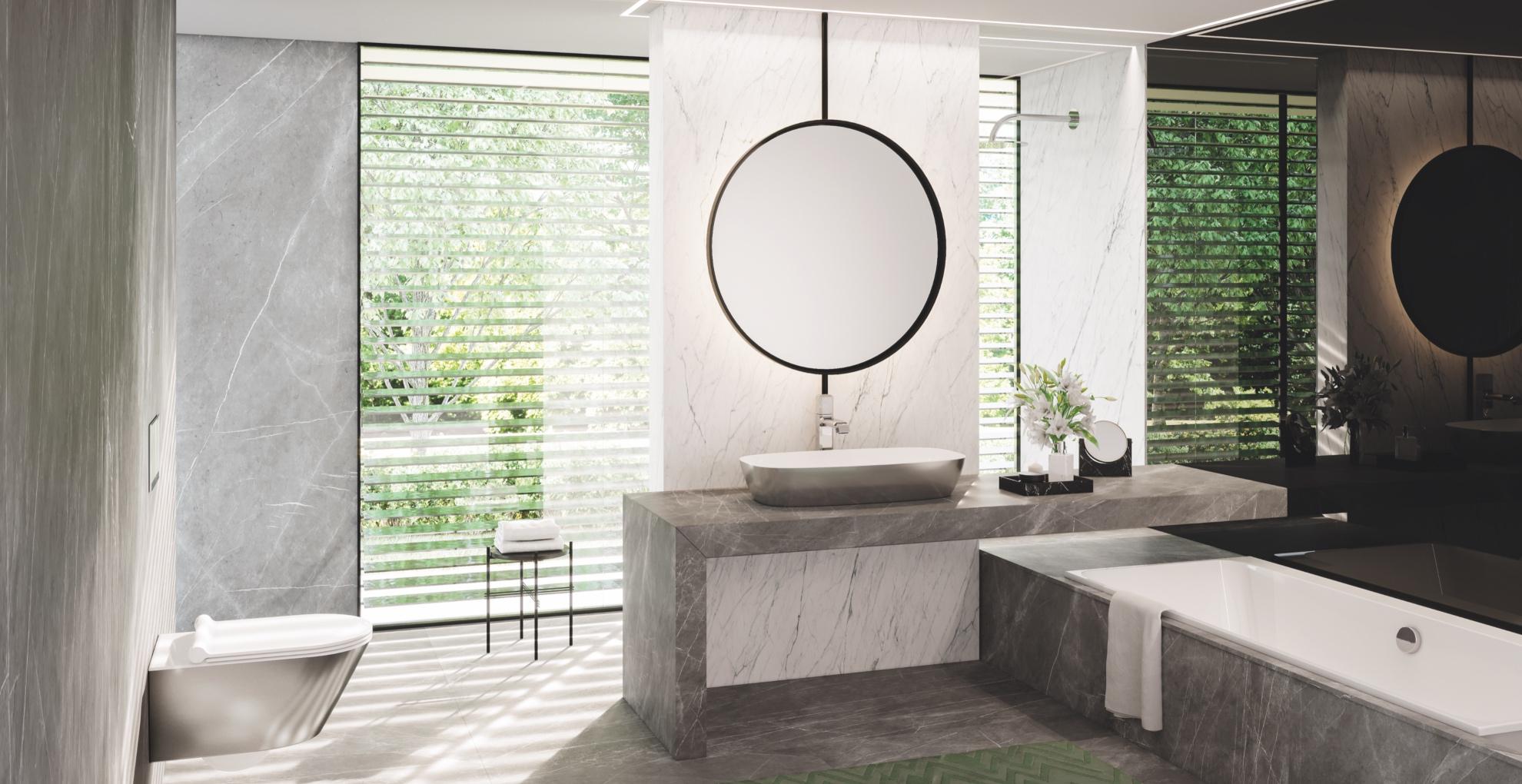 Catalano GreenLux 80x40 vask toilet NF Newflush hvid sølv