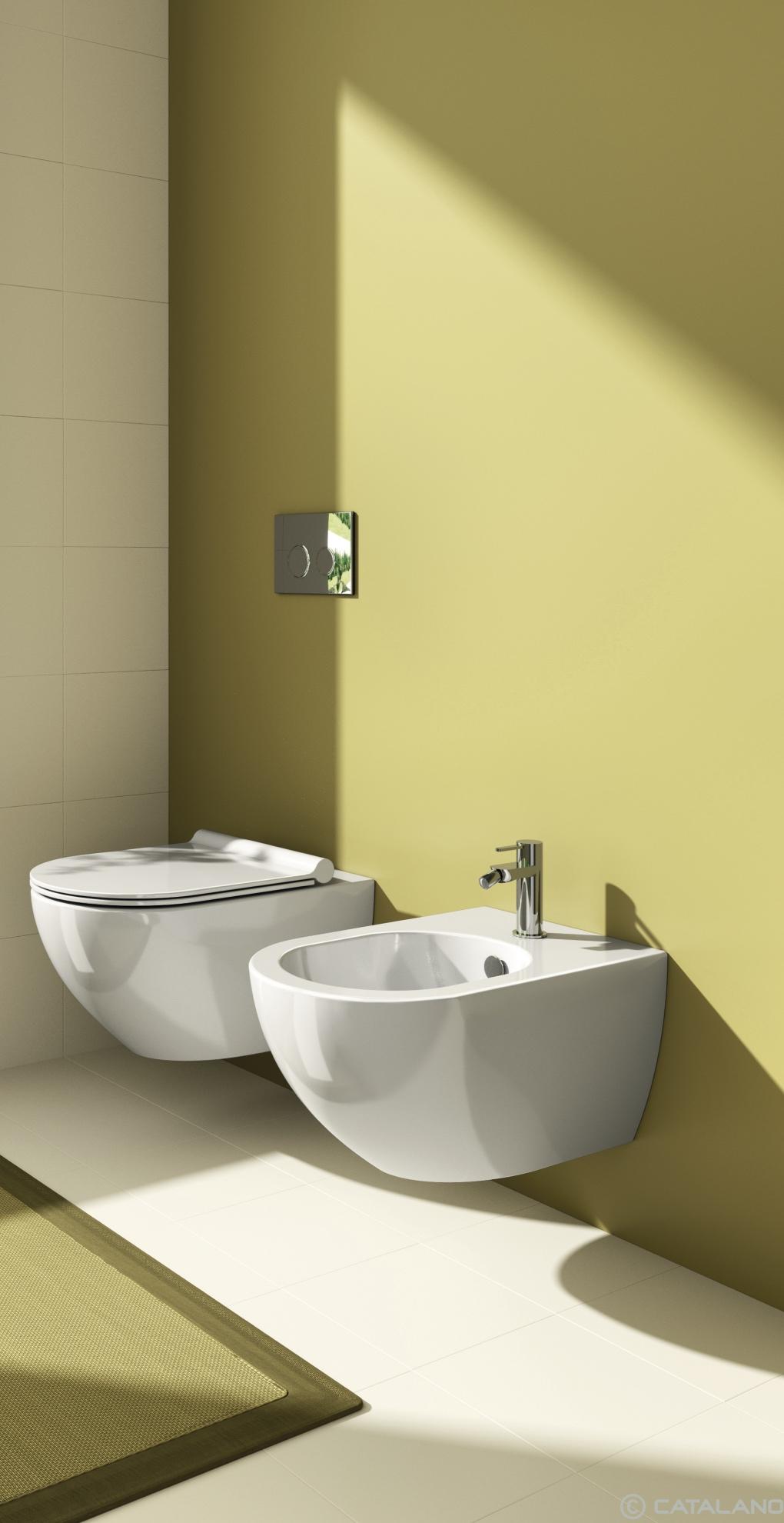 Catalano Sfera 54 Newflush WC toilet bidet væghængt cataglaze nf