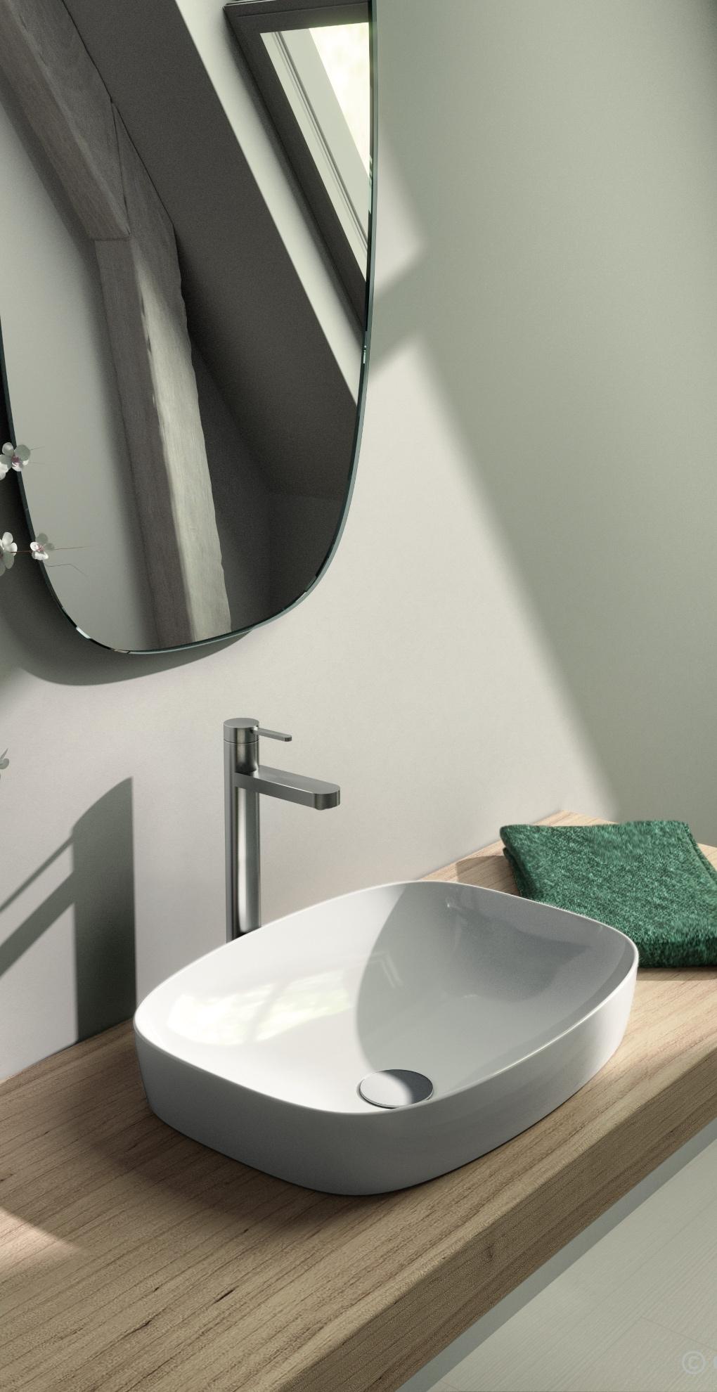 Catalano vask cataglaze hvid GREEN Lux 50x38